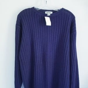 Chico's navy ribbed cotton sweater size M/L